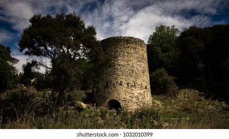 an abandoned limestone kiln in rural Canterbury