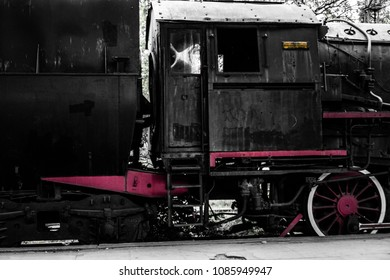 Abandoned locomotive at the old train station