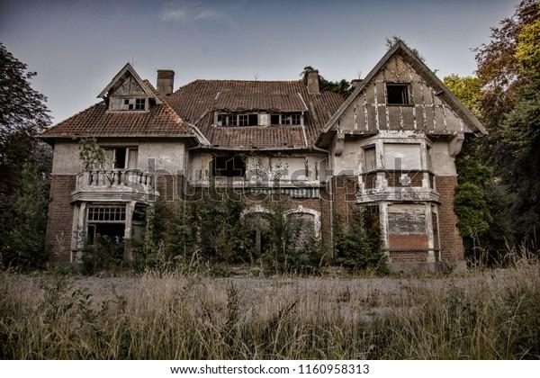 Abandoned Mansion Belgium Stock Photo (Edit Now) 1160958313