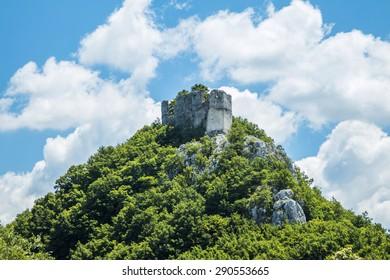 Abandoned medieval fortress Okic near Samobor in Croatia