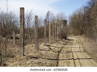 Abandoned military ground