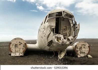 Abandoned military plane, Iceland.