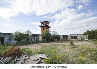 Abandoned military settlement on the White Sea coast