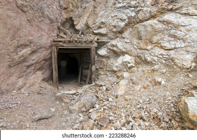 Abandoned mine entrance in Death Valley, CA
