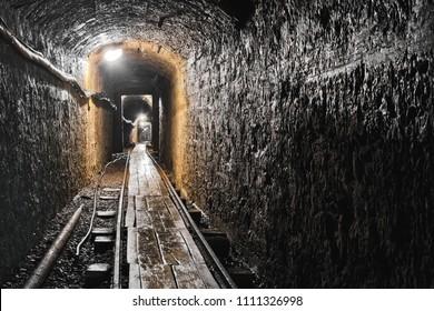 An abandoned mine flooded in Banska Stiavnica, Slovakia
