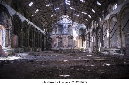 Abandoned mining building