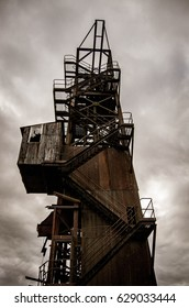Abandoned Mining Control Tower Rusted