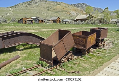 Abandoned mining equipment in the Ghost town of Bannack , Montana . 12th May 2014. for editorial use only