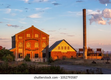 Abandoned Mining Factory during the fall in the town of Marquette, Michigan