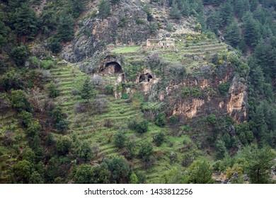 Abandoned monastery in Kadisha valley, Lebanon