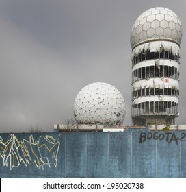 Abandoned NSA listening station on Teufelsberg in Berlin