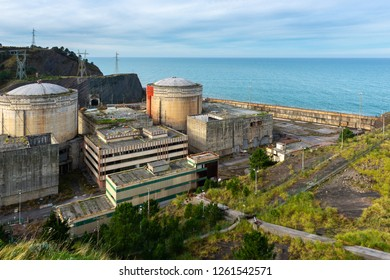 Abandoned  nuclear power plant  in Lemoniz, Vizcaya, Spain
