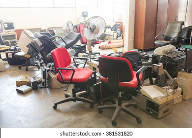 Abandoned office furnitures and equipments