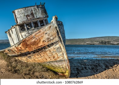 Abandoned Old Boat in Point Reyes