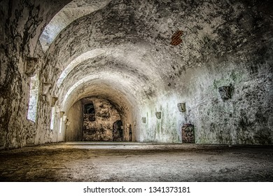 abandoned old cellars