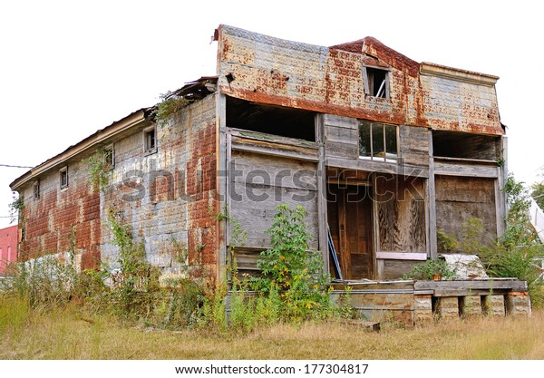 Abandoned old grocery store in Gibsland Louisiana