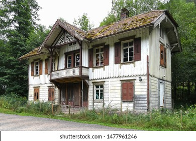 abandoned old house with thatched roof in Black Forest Germany