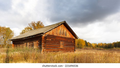 abandoned old house in wood