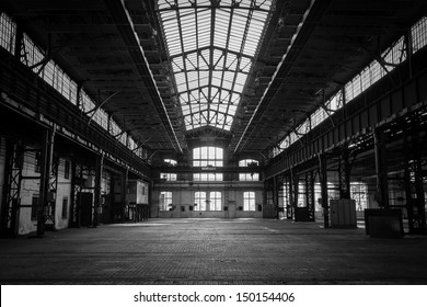 abandoned old industrial interior