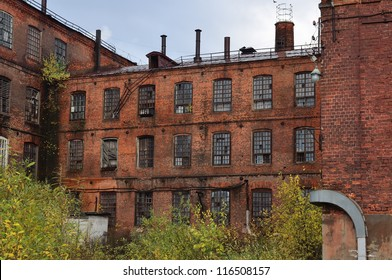 Abandoned old manufacture building of the 19th century