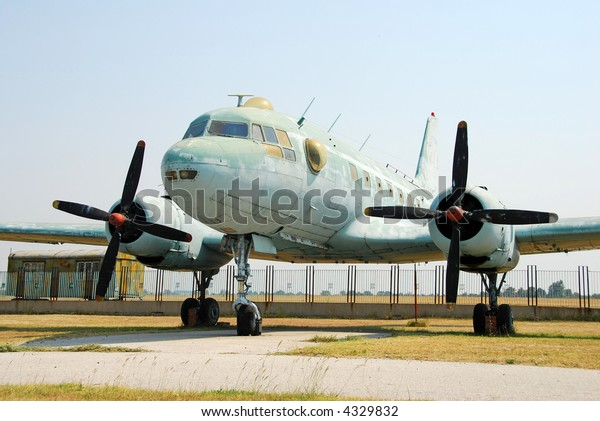 Abandoned old propeller airplane