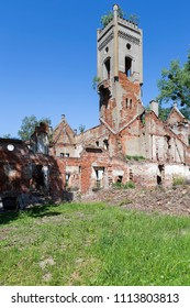 Abandoned and overgrown mansion