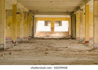 abandoned pavilion