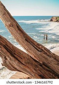 Abandoned Pier Pillar near Davenport, California