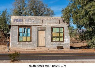 Abandoned Post Office at Kelso Station in Mojave National Preserve