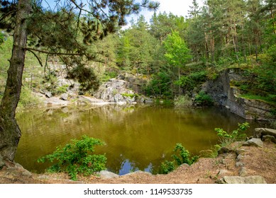 Abandoned quarry in central Europe