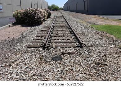Abandoned rail spur