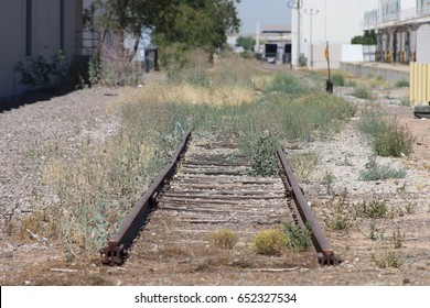 Abandoned rail spur