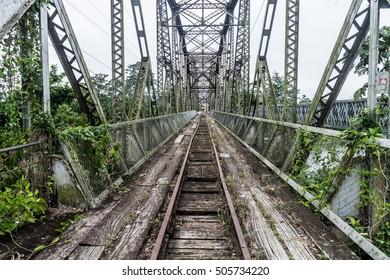 Abandoned railway bridge between Costa Rica and Panama