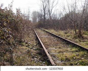 Abandoned Railway in the grass