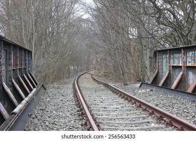 Abandoned railway track in flensburg, northern germany