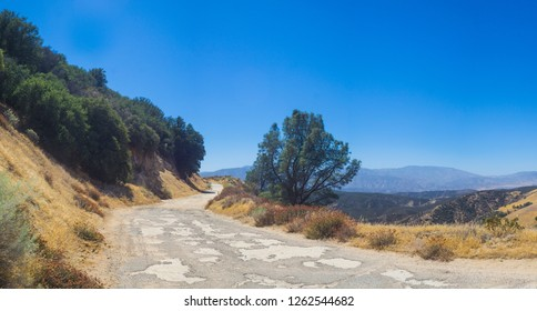 Abandoned Ridge Road in the mountains of southern California north of Los Angeles.
