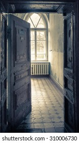 Abandoned room in old shabby house