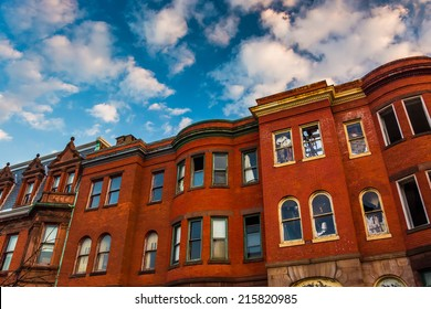 Abandoned rowhouses in Baltimore, Maryland.