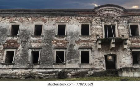 Abandoned ruins of a castle in transylvania, Boncida, Romania