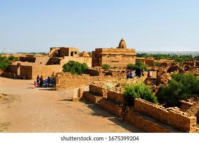 Abandoned or ruins village in Kuldhara Jaisalmer at Rajasthan India-October 2019