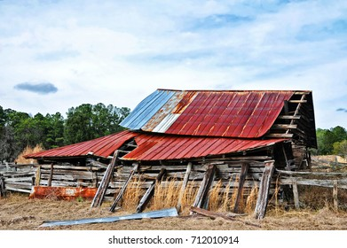 An Abandoned Rustic Barn in Decay