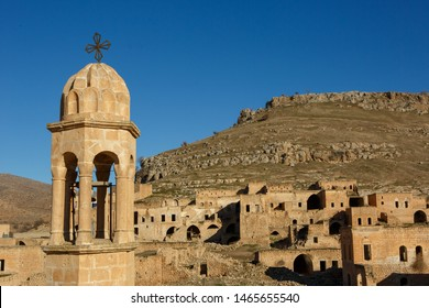 Abandoned sand stone houses of an ancient Assyrian village called Kellith or Kıllıt in Savur, Mardin.