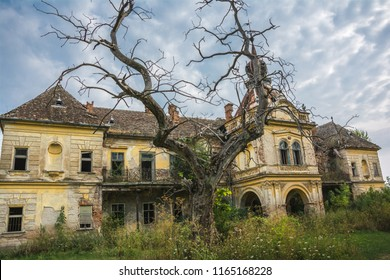 An abandoned scary castle near city of Vrsac, Serbia