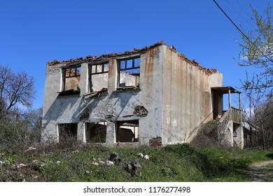 Abandoned school in the Bulgarian village of Golem Tsalim