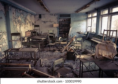 Abandoned school in Chernobyl 2012 March 14
