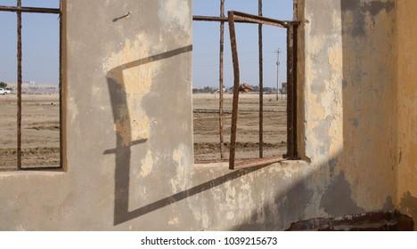 Abandoned School in coastal desert of Peru
