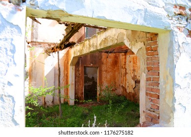 Abandoned school in tne village of Golem Tsalim