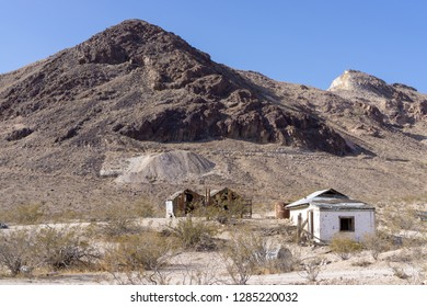 Abandoned sheds at Ghost town Rhyolite near Beatty at Hwy 374, Nevada, USA