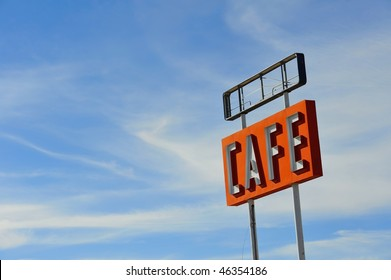 Abandoned Sign Cafe on Historic Route 66