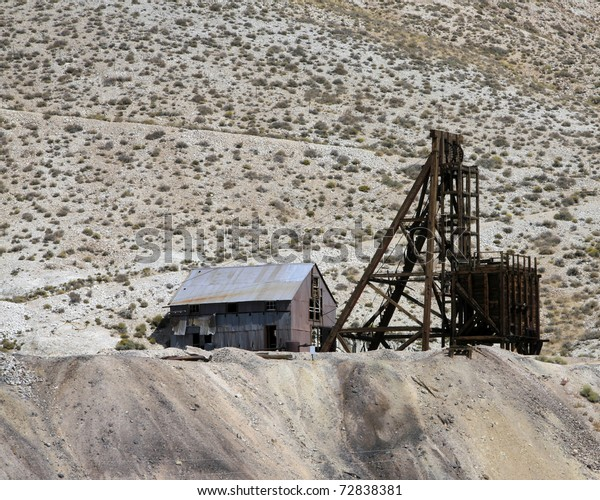 Abandoned Silver Mine Nevada Near Town Stock Photo (Edit